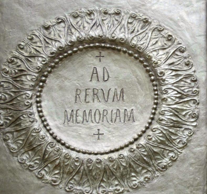 Left hand door, central relief